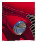 Red 1938 Chevy Coupe Fleece Blanket