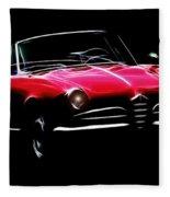Red Alfa Romeo 1600 Giulia Spider Fleece Blanket