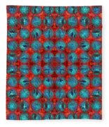 Red And Blue Abstract Fleece Blanket