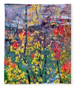 Red And Gold In Quarry At Elephant Rocks State Park Fleece Blanket