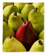 Red And Green Pears  Fleece Blanket