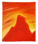 Red And Orange Fleece Blanket