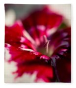 Red And White Dianthus Fleece Blanket
