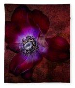 Red Anemone Fleece Blanket