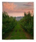 Red Apple Sunset Fleece Blanket