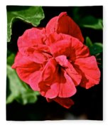 Red Begonia Fleece Blanket