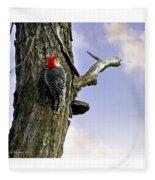 Red-bellied Woodpecker - Male Fleece Blanket