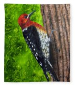Red Breasted Sapsucker Fleece Blanket