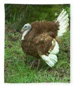 Red Burbon Turkey Fleece Blanket