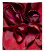 Red Carnation With Heart Fleece Blanket