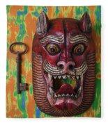 Red Cat Mask Fleece Blanket