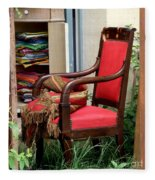 Red Chair Fleece Blanket