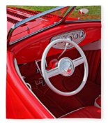 Red Classic Car Fleece Blanket