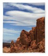 Red Cliffs Blue Sky Fleece Blanket