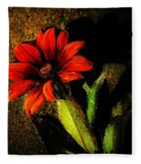 Red Coneflower Fleece Blanket