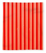 Red Corrugated Metal Fleece Blanket