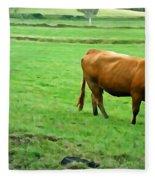 Red Cow Fleece Blanket