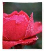 Red Crystal Petals Fleece Blanket