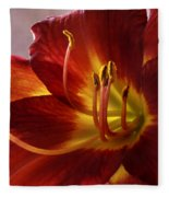 Red Day Lily Fleece Blanket