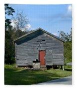 Red Door Of The One Room School House Fleece Blanket