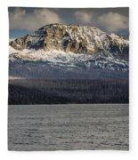 Red Eagle Mountain Evening Fleece Blanket