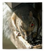 Red Eyed Demon Squirrel Fleece Blanket