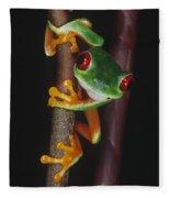 Red-eyed Tree Frog Agalychnis Callidryas Fleece Blanket