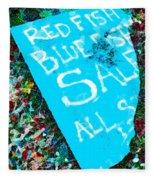Red Fish Blue Fish Sale Fleece Blanket