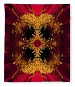 Red Flower Art Fleece Blanket