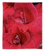Red Gladiolus Fleece Blanket
