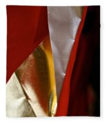 Red Gold And White Fleece Blanket