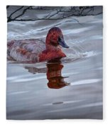 Red Headed Duck Fleece Blanket