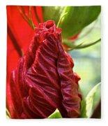 Red Hibiscus Torch Fleece Blanket