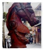 Red Horse Head Post Fleece Blanket