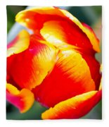 Red In A Tulip Fleece Blanket