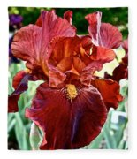 Red Iris Fleece Blanket