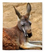 Red Kangaroo Fleece Blanket
