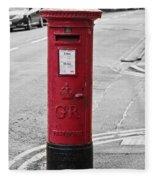 Red King George V Postbox Fleece Blanket