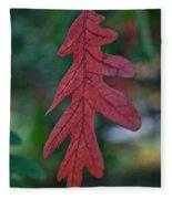 Red Leaf Hanging Fleece Blanket