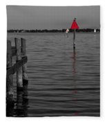 Red Marker 6 Fleece Blanket
