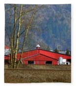 Red Matsqui Barn Fleece Blanket