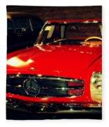 Red Mercedes Sl Fleece Blanket