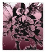 Red Metallic Dahlia Named Who Dun It Fleece Blanket