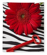 Red Mum And Red Key Fleece Blanket