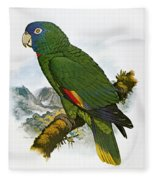 Red-necked Amazon Parrot Fleece Blanket