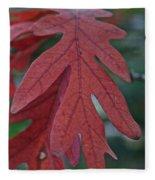 Red Oak Leaf Fleece Blanket