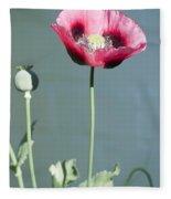 Red Opium Poppy Fleece Blanket