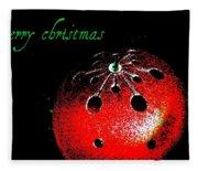 Red Ornament Fleece Blanket