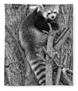 Red Panda 2 Monochrome Fleece Blanket