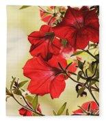 Red Petunias Fleece Blanket